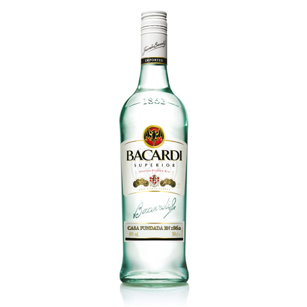 Bacardi white rum for White rum with coke