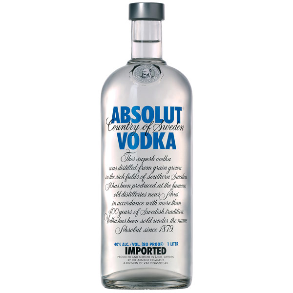 Absolut vodka 1l pris
