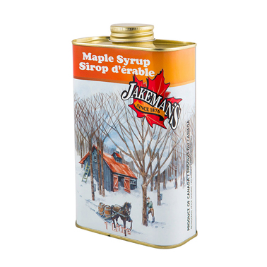 Jakeman's maple syrup tin 1L